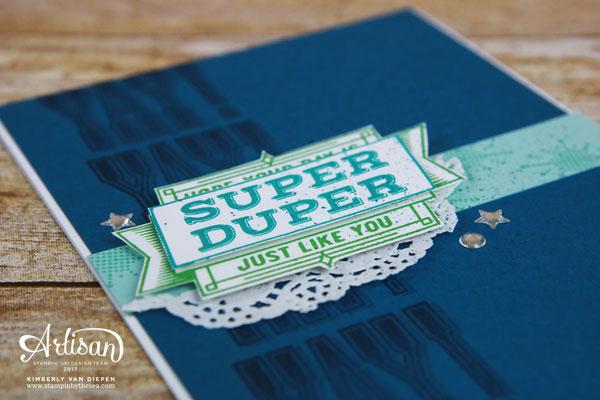 Vintage Fonts, Stampin' Up!, Super Duper stamp set