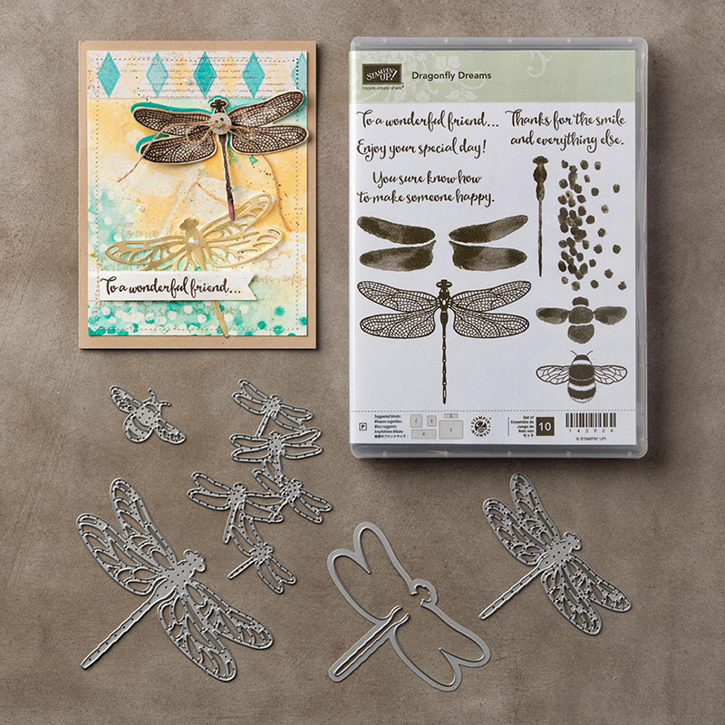 Masking Technique, Dragonfly Dreams, Stampin' Up!