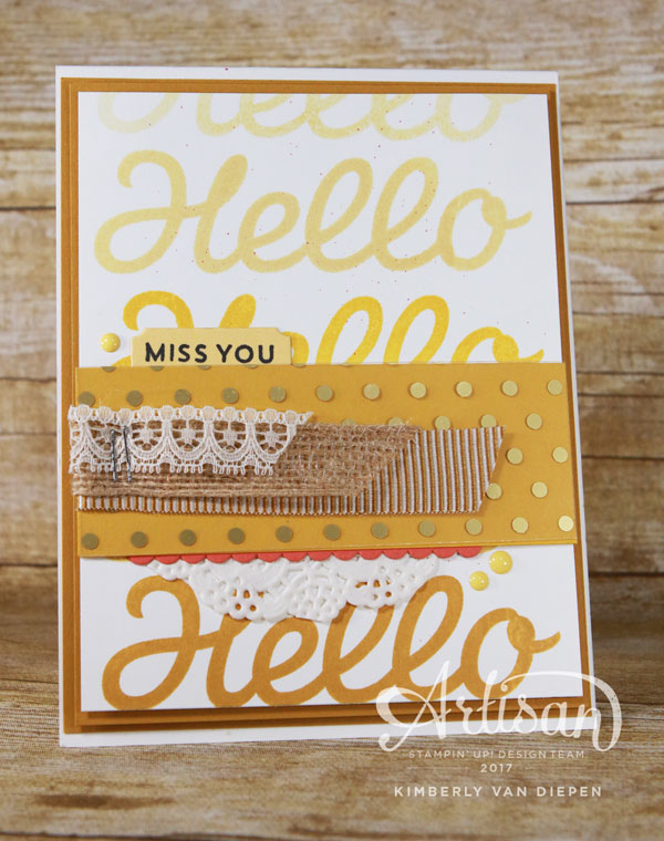 Miss You, Vertical Garden, Hey Chicks, Stampin' Up!