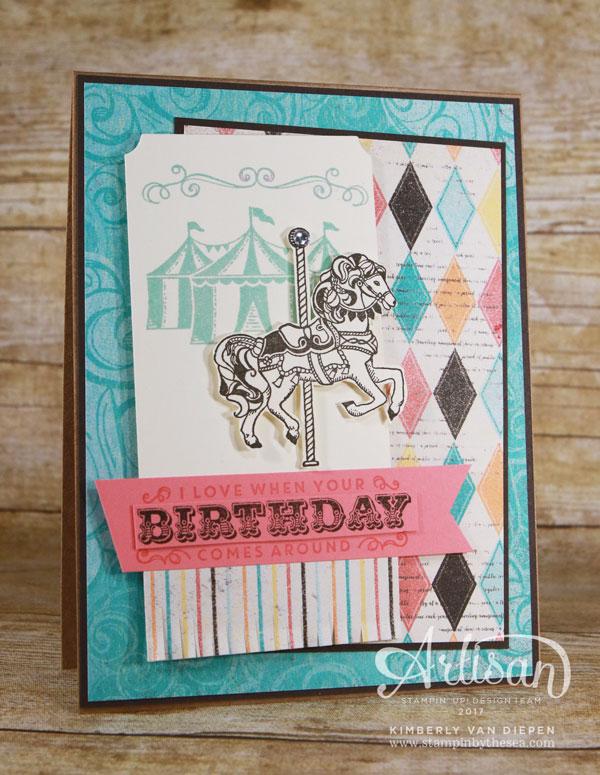 Big Top Birthday, Stampin' Up!, Carousel Birthday