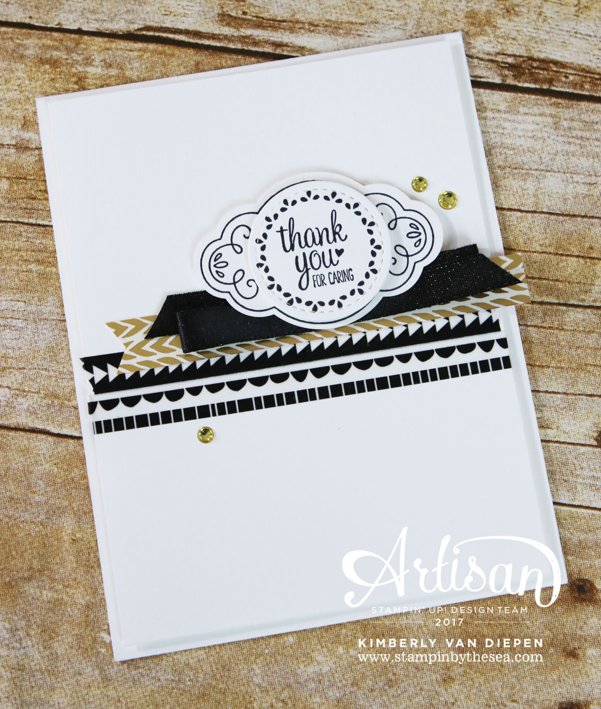 Elegant Thank You, Label Me Pretty, Stampin' Up!