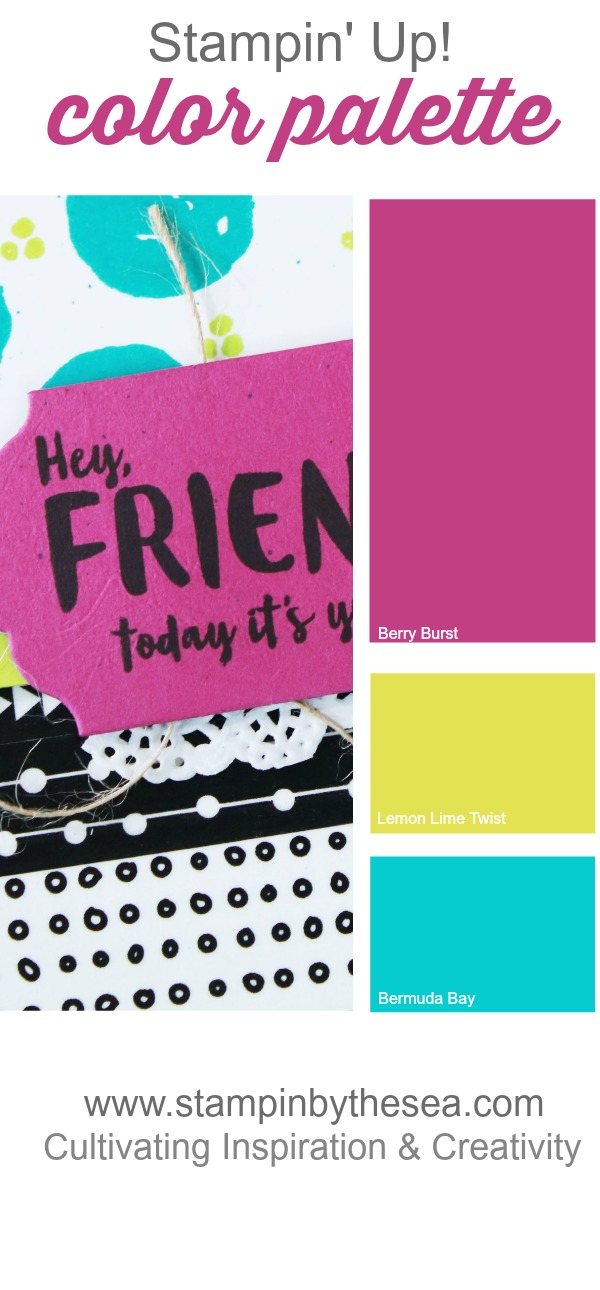 Bold Bright Color Combination, OnStage Display Stamper, Stampin' Up!