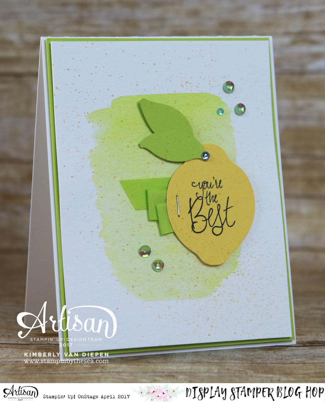 Lemon or Lime, Stampin' Up!, OnStage Display