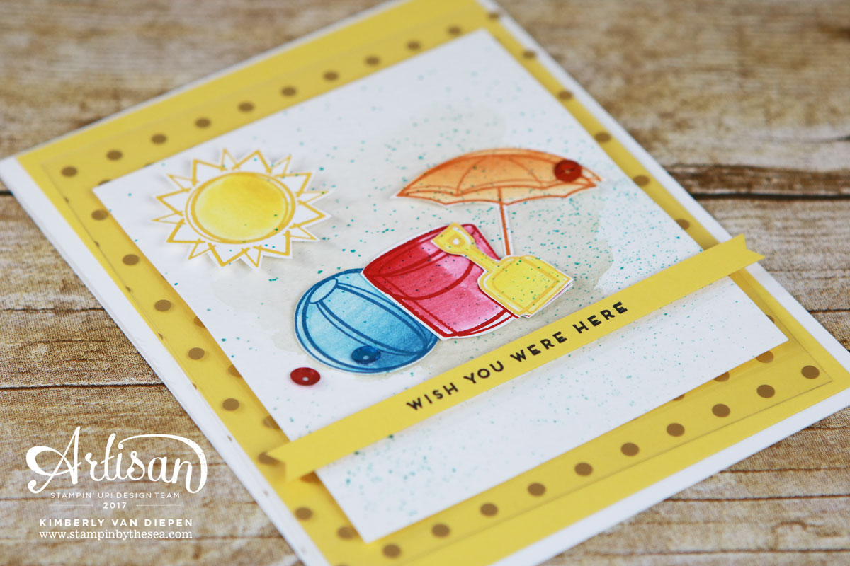 Spring Break, Day at the Beach, Stampin' Up!