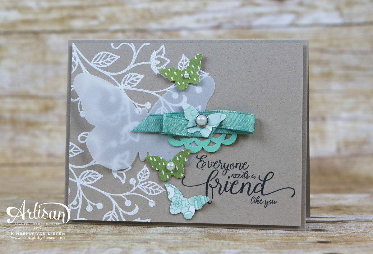 Friends and Flamingos, Flourishing Phrases, Stampin' Up!