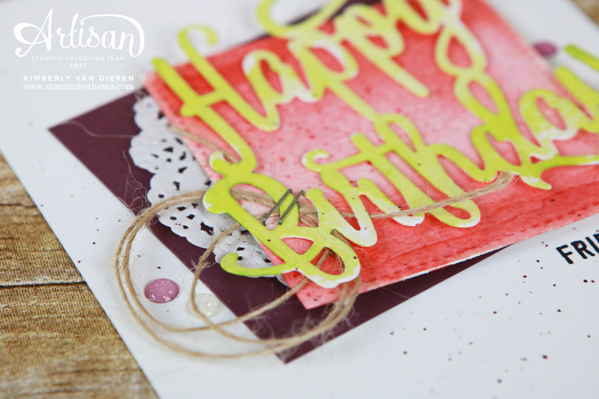 Birthday Celebration, Be Inspired, Stampin' Up!