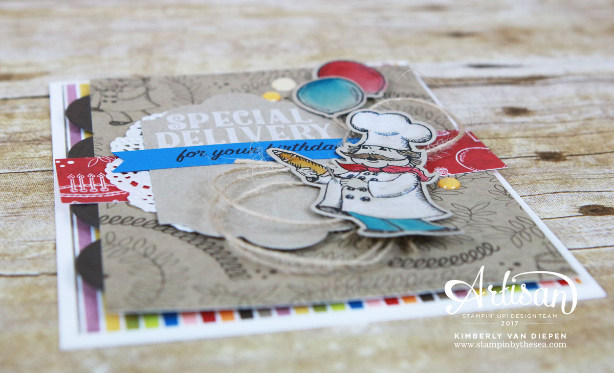 Birthday Delivery, Stampin' Up!, Artisan Blog Hop
