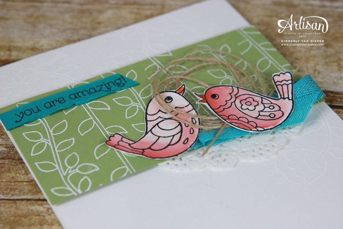Tutorial Bundle Design Team Blog Hop, Stampin' Up!, Feathery Friends