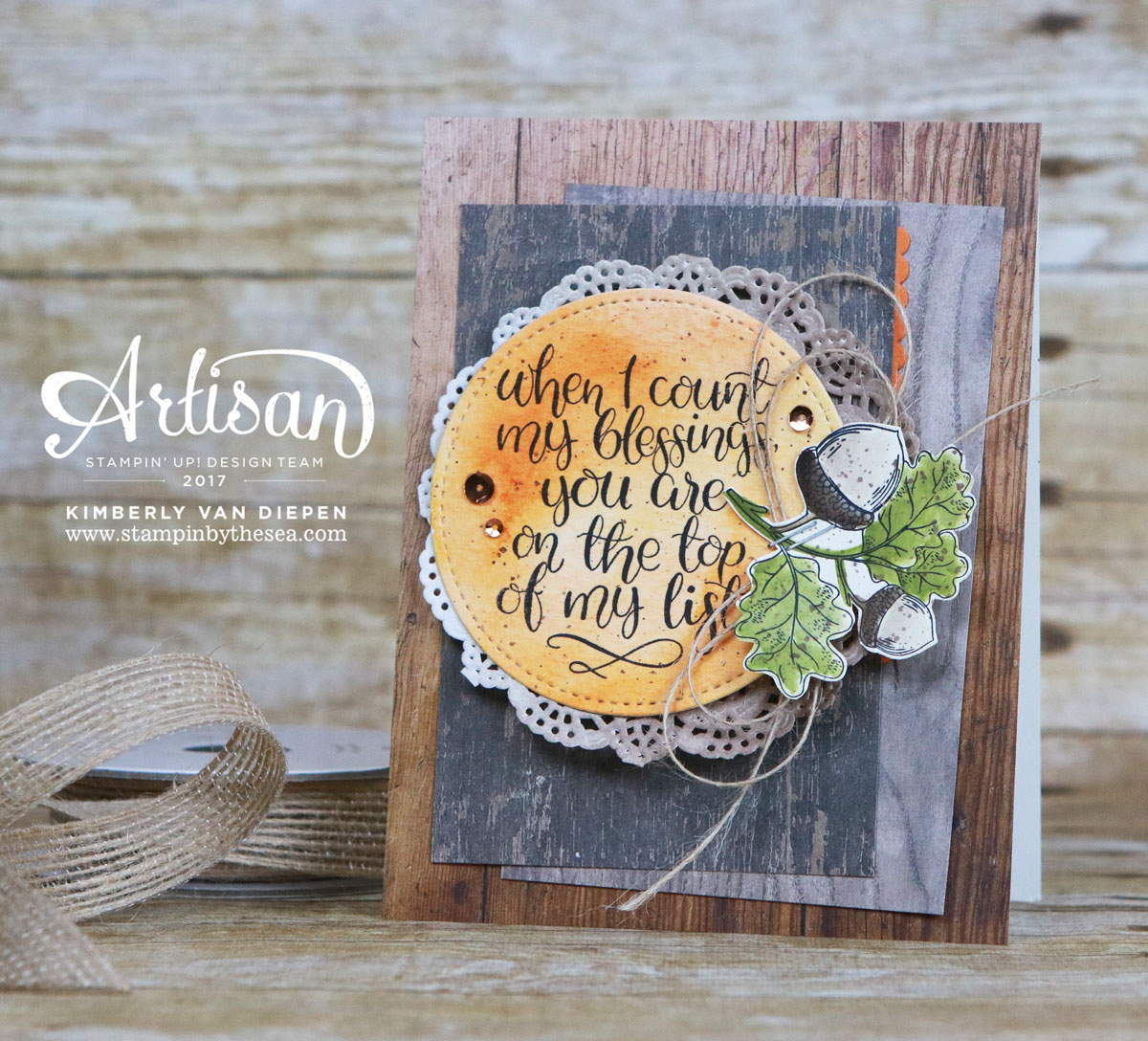 Count My Blessings, Stampin' Up! Artisan Hop