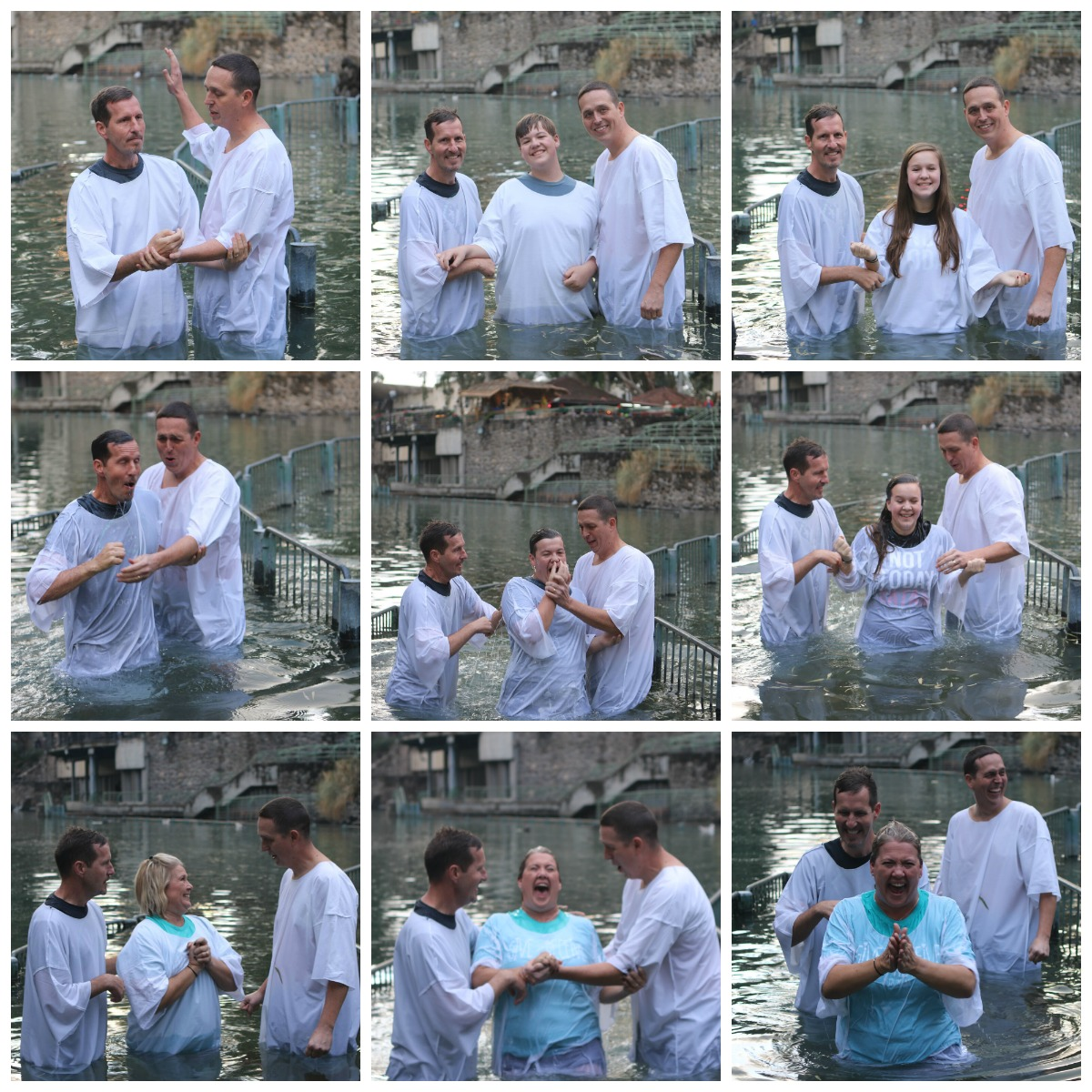 Day three of Israel, Baptism