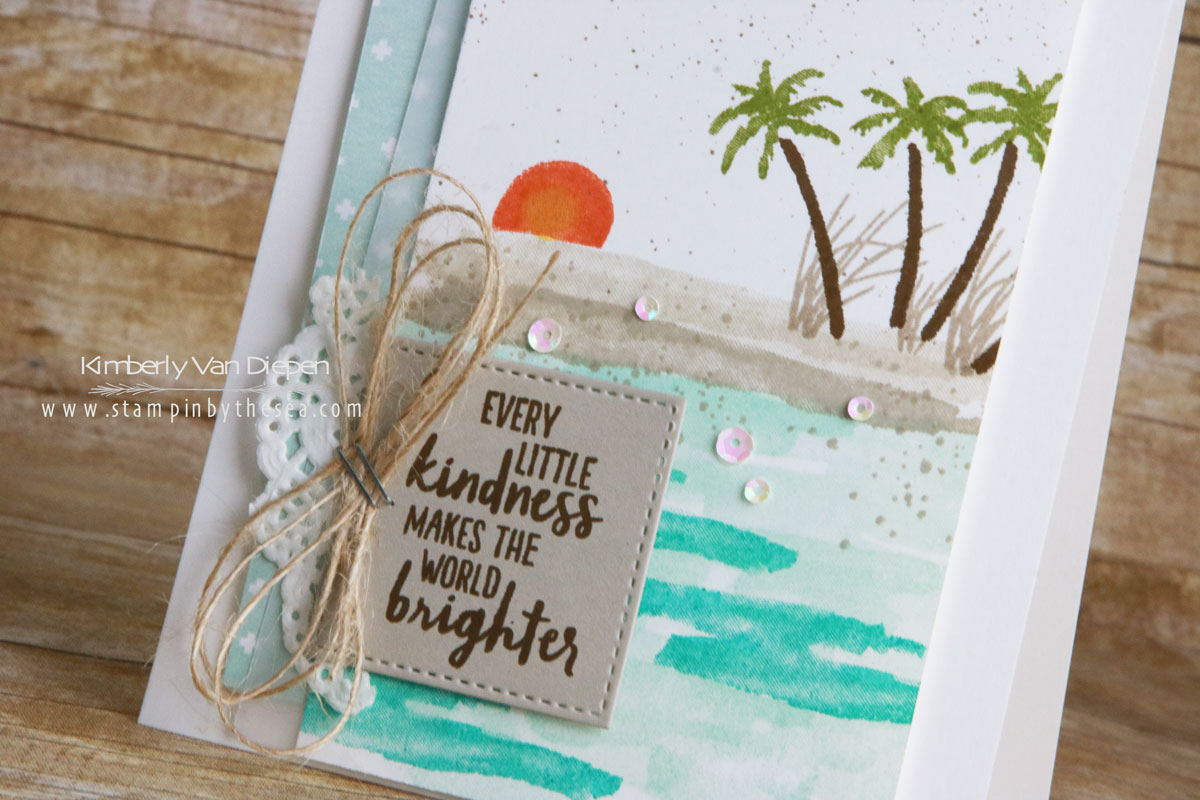 May Tutorial, Stampin' Up!, Waterfront