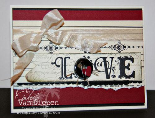 Independent Stampin' Up! Demonstrator Kimberly Van Diepen Broadsheet Alphabet Love Card