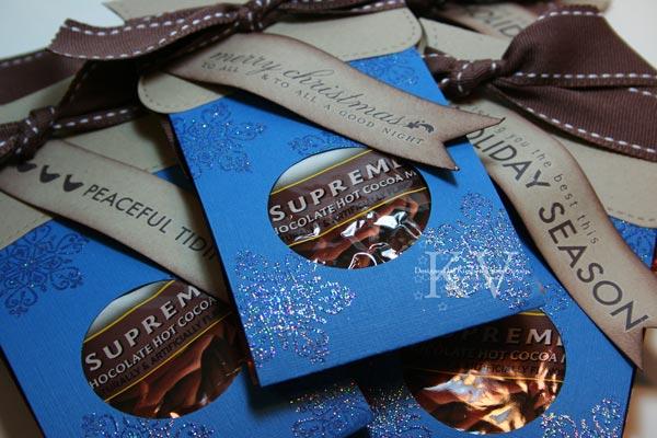 Cocoa packs blue