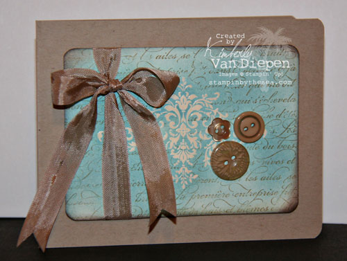 Independent Stampin' Up! Demonstrator Kimberly Van Diepen, Emboss Resist
