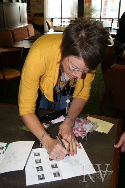 Shelli signing my book